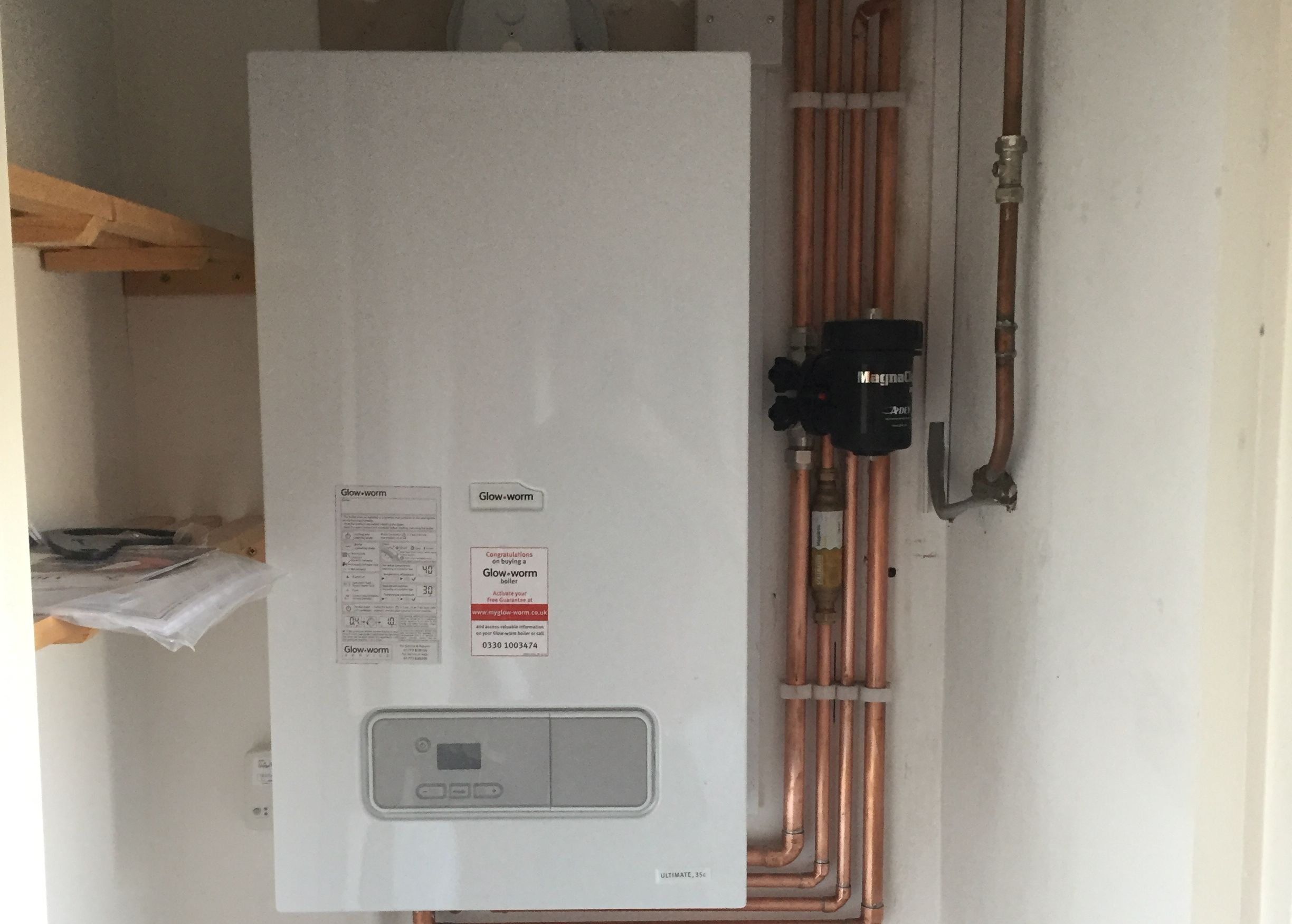 glow worm boiler installed by our local gas engineer in st albans